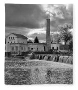 Old Mill And Banquet Hall Fleece Blanket
