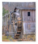 Old Mill Water Wheel And Sluce Fleece Blanket