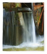 Old Mill Water Wheel Fleece Blanket