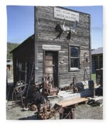 Old Molson Ghost Town Assay Office Fleece Blanket