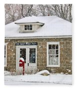 Old Monclova Post Office 6998 Fleece Blanket