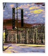 Old New Orleans Electric Plant Fleece Blanket