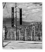 Old New Orleans Power Plant Fleece Blanket
