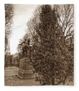 Old North Church And Paul Revere Fleece Blanket