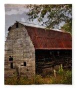Old Oak Barn Fleece Blanket