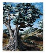 Old Olive Tree Fleece Blanket