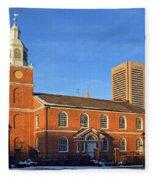 Old Otterbein United Methodist Church Fleece Blanket