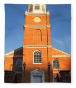 Old Otterbein United Methodist Church Entry Fleece Blanket