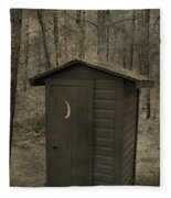 Old Outhouse Out Back Fleece Blanket