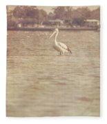 Old Pelican Photograph Fleece Blanket