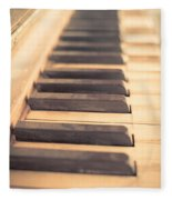 Old Piano Keys Fleece Blanket