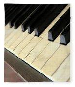 Old Piano Fleece Blanket
