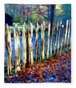 Old Picket Fence Greenbrier School Fleece Blanket