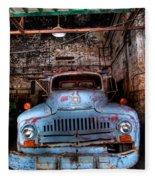 Old Pickup Truck Hdr Fleece Blanket