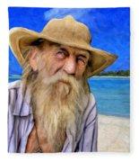 Old Pirate Bill Fleece Blanket