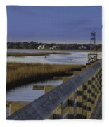 Old Pitt Street Bridge Fleece Blanket