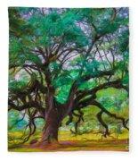 Old Plantation Oak Fleece Blanket