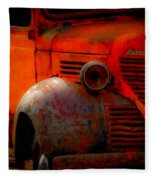 Old Plymouth Red Fleece Blanket