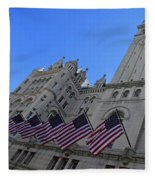 The Old Post Office Or Trump Tower Fleece Blanket
