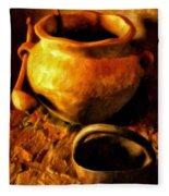 Old Pot And Ladle Fleece Blanket