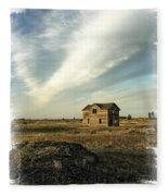 Old Prairie Homestead Fleece Blanket