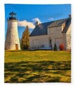Old Presque Isle Lighthouse Fleece Blanket