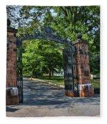Old Queens Entrance Gate Fleece Blanket