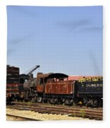 Old Railroad Cars From The Series View Of An Old Railroad Fleece Blanket
