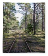 Old Railroad Tracks Fleece Blanket