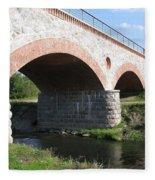 Old Railway Bridge In Silute. Lithuania. Summer Fleece Blanket