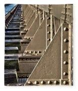 Old Railway Bridge In The Netherlands Fleece Blanket