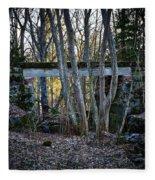 Old Railway Bridge Fleece Blanket