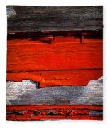 Old Red Barn Three Fleece Blanket