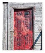 Old Red Door Fleece Blanket