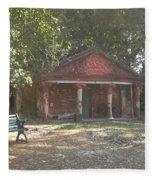 Old Red House In Lal Bag Fleece Blanket