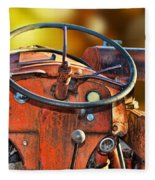 Old Red Tractor Ford 9 N Fleece Blanket