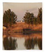 Old Roads And Bridges South Jersey Fleece Blanket