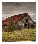 Old Rustic Barn Fleece Blanket