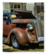 Old Rusty Car At The Old Shop  Ca5083a-14 Fleece Blanket