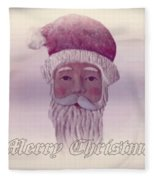 Old Saint Nicholas Greeting Card Fleece Blanket