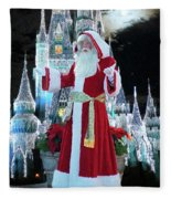 Old Saint Nick Walt Disney World Digital Art 02 Fleece Blanket