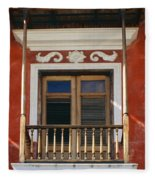 Old San Juan Balcony Fleece Blanket