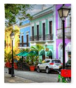 Old San Juan Street Fleece Blanket