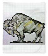 Old School Buffalo Fleece Blanket