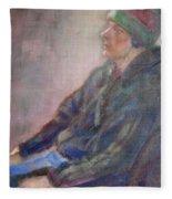 Old School - Contemporary Portrait Fleece Blanket