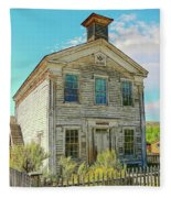 Old School House Bannack Ghost Town Montana Fleece Blanket