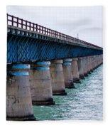 Old Seven Mile Bridge Fleece Blanket