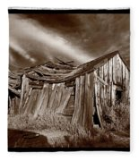 Old Shack Bodie Ghost Town Fleece Blanket