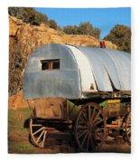 Old Sheepherder's Wagon Fleece Blanket