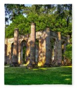 Old Sheldon Church Ruins In South Carolina Fleece Blanket
